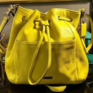 Yellow Coach Bucket Bag